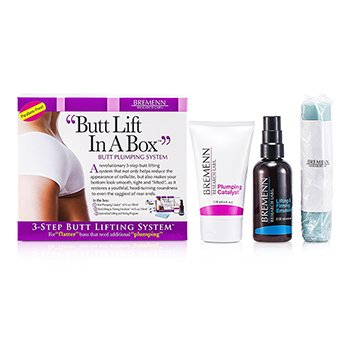 Bremenn Research Labs Butt Lift In A Box: 1x Butt Plumping Catalyst Krim 118ml + Butt Lifting & Firming Emulsion 118ml + Exercise Band 1pc