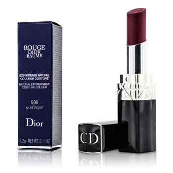 Christian Dior Rouge Dior Baume Natural Lip Treatment Couture Colour - # 988 Nuit Rose