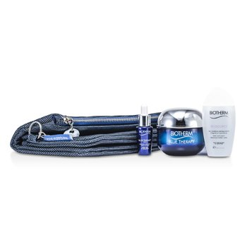 Biotherm Blue Therapy Set: Blue Therapy Cream SPF 15 50ml + Blue Therapy Serum 7ml + Biosource Micellar Water 30ml + Beg