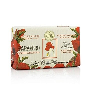 Nesti Dante Dei Colli Fiorentini Triple Milled Vegetal Soap - Poppy