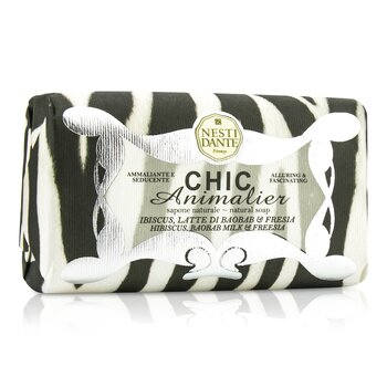 Nesti Dante Chic Animalier Natural Soap - Hibiscus, Baobab Milk & Freesia