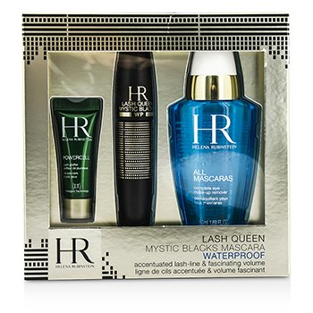 Helena Rubinstein Lash Queen Mystic Blacks Waterproof Mascara Set: Mascara 7ml + MakeUp Remover 50ml + Powercell 3ml
