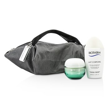 Biotherm Aquasource & Body Care X Mandarina Duck Coffret: Cream N/C 50ml + Anti-Drying Body Care 100ml + Handle Bag