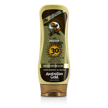 Australian Gold Lotion Sunscreen Broad Spectrum SPF 30 with Instant Bronzer