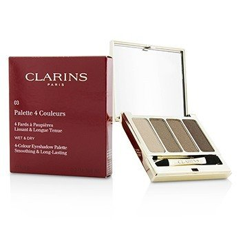 Clarins 4 Colour Eyeshadow Palette (Smoothing & Long Lasting) - #03 Brown