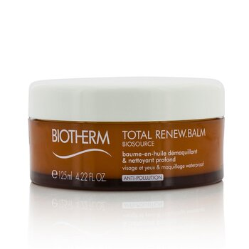 Biotherm Biosource Total Renew Balm Balm-To-Oil Deep Cleanser - For Face & Eyes & Waterproof Make-Up