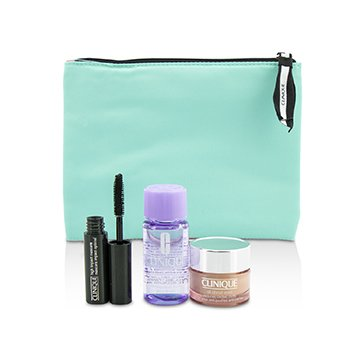 Clinique Travel Set: All About Eye 15ml + Mascara 3.5ml + Eye Makeup Remover 30ml+1Bag