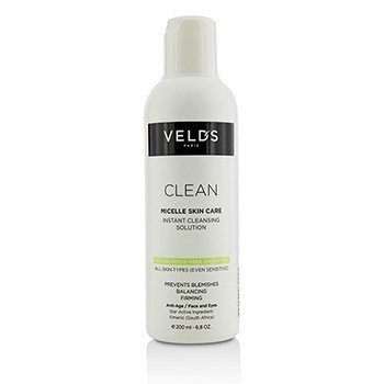 Velds Clean Micelle Skin Care Instant Cleansing Solution - All Skin Types (Even Sensitive)