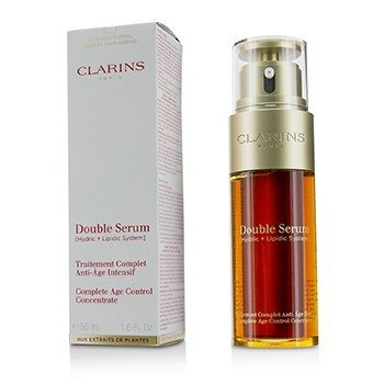 Clarins Double Serum (Hydric + Lipidic System) Complete Age Control Concentrate (Box Slightly Damaged)