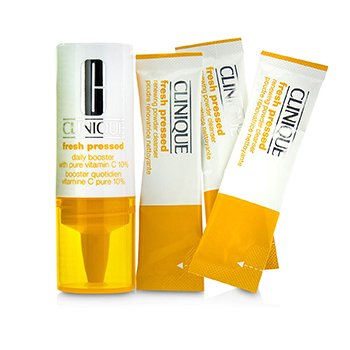 Clinique Fresh Pressed 7-Day System with Pure Vitamin C (1x Daily Booster 8.5ml + 7x Renewing Powder Cleanser 0.5g)