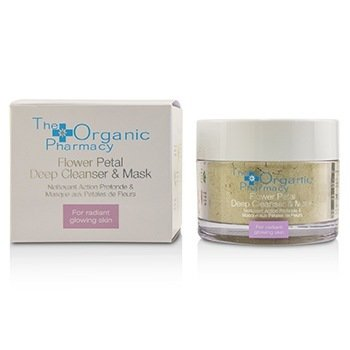 The Organic Pharmacy Flower Petal Deep Cleanser & Mask - For Radiant Glowing Skin