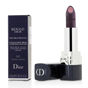 Christian Dior Rouge Dior Double Rouge Matte Metal Colour & Couture Contour Lipstick - # 992 Poison Purple