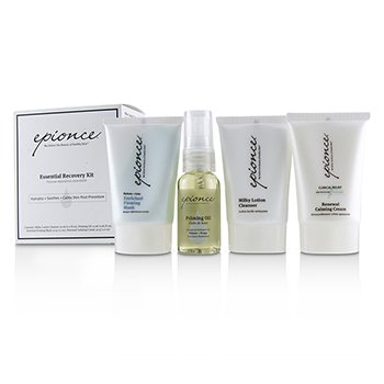 Epionce Essential Recovery Kit: Milky Lotion Cleanser 30ml+ Priming Oil 25ml+ Enriched Firming Mask 30g+ Renewal Calming Cream 30g