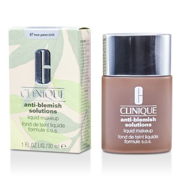 Clinique Anti Blemish (Anti Bintik Hitam Kulit ) Solutions Liquid Mekap- # 07 Fresh Golden