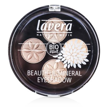 Lavera Beautiful Mineral Eyeshadow Quattro - # 02 Cappuccino Cream
