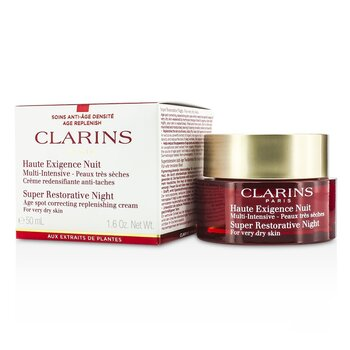 Clarins Super Restorative Night Age Spot Correcting Replenishing Cream (For Very Dry Skin)