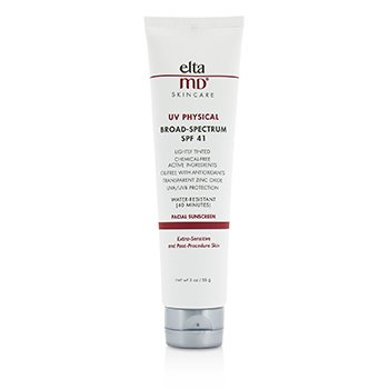 EltaMD UV Physical Water-Resistant Facial Sunscreen SPF 41 (Tinted) - For Extra-Sensitive & Post-Procedure Skin