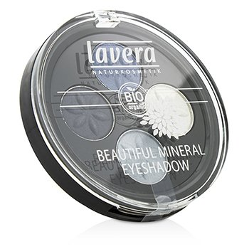Lavera Beautiful Mineral Eyeshadow Quattro - # 07 Blue Platinum