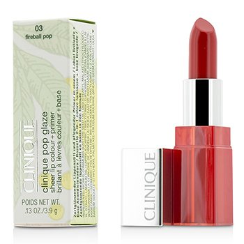 Clinique Pop Glaze Sheer Lip Colour + Primer  - # 03 Fireball Pop