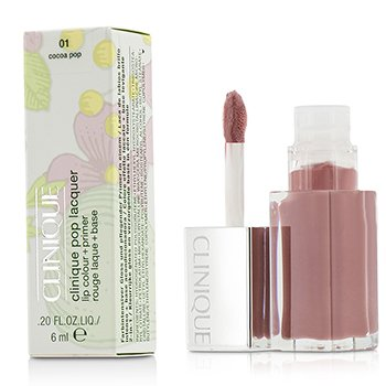 Clinique Pop Lacquer Lip Colour + Primer  - # 01 Cocoa Pop