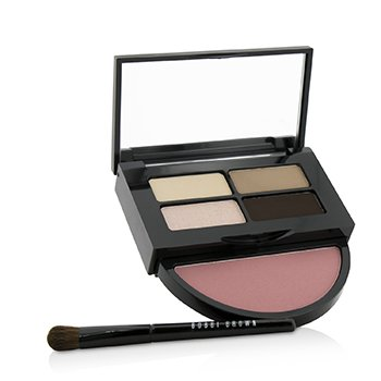 Bobbi Brown Instant Pretty Eye & Cheek Palette (3x Eye Shadow, 1x Metallic Eye Shadow, 1x Blush, 1x Mini Eye Shadow Brush)