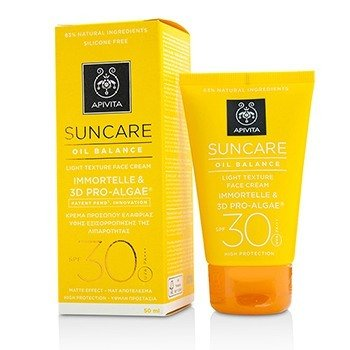 Apivita Suncare Oil Balance Light Texture Face Cream SPF 30