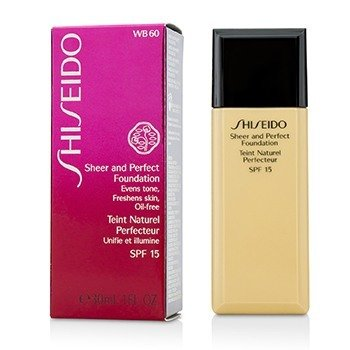Shiseido Sheer & Perfect Foundation SPF 15 - # WB60 Natural Deep Warm Beige
