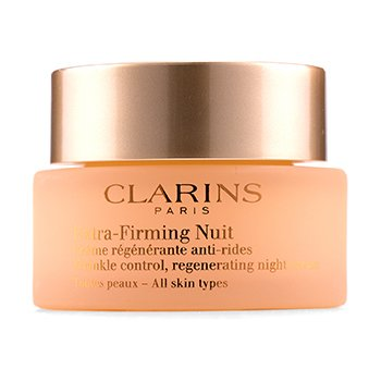 Clarins Extra-Firming Nuit Wrinkle Control, Regenerating Night Cream - All Skin Types