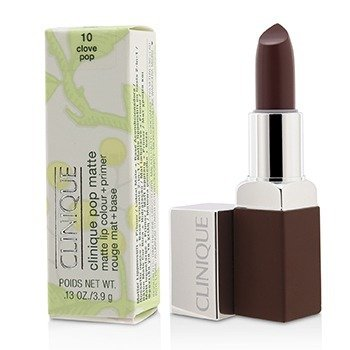Clinique Pop Matte Lip Colour + Primer - # 10 Clove Pop