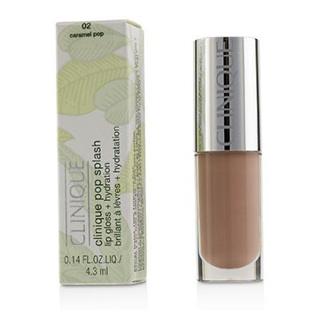 Clinique Pop Splash Lip Gloss + Hydration - # 02 Caramel Pop