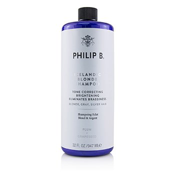 Philip B Icelandic Blonde Shampoo (Tone Correcting Brightening Eliminates Brassiness - Blonde, Gray, Silver H