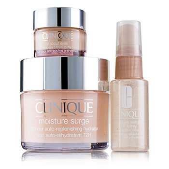 Clinique Moisture Surge Set: Moisture Surge 72-Hr 125ml+ All About Eyes 15ml + Moisture Surge Face Spray Thir