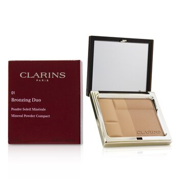 Clarins Bronzing Duo Mineral Powder Compact - # 01 Light