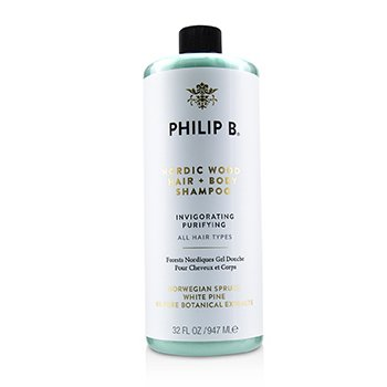 Philip B Nordic Wood Hair + Body Shampoo (Invigorating Purifying - All Hair Types)