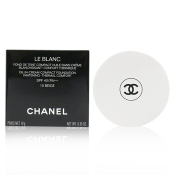 Chanel Le Blanc Oil In Cream Whitening Compact Foundation SPF 40 - # 10 Beige