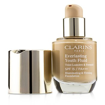 Clarins Everlasting Youth Fluid Illuminating & Firming Foundation SPF 15 - # 112 Amber