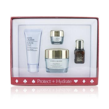 Estee Lauder Protect+Hydrate Collection: DayWear Moisture Creme SPF 15 + Advanced Night Repair + DayWear Eye + Perfectly Clean