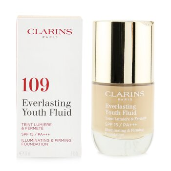 Clarins Everlasting Youth Fluid Illuminating & Firming Foundation SPF 15 - # 109 Wheat