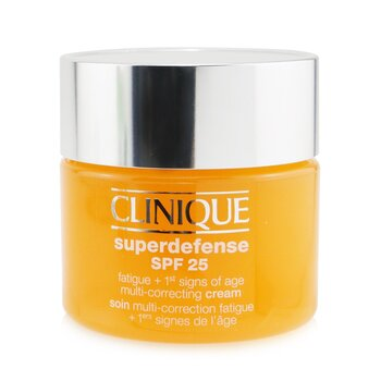 Clinique Superdefense SPF 25 Fatigue + 1st Signs Of Age Multi-Correcting Cream - Very Dry to Dry Combination