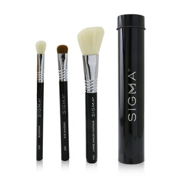 Sigma Beauty Essential Trio Brush Set - # Black